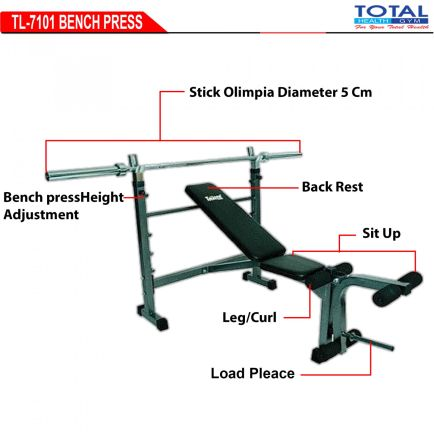 Home Gym TL-7701 BENCH PRESS WITH STICK  1 detail_tl_7101