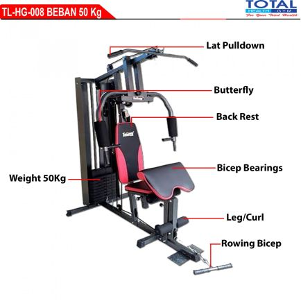 Home Gym TL-HG008 HOMEGYM TOTAL 1 SISI WITH COVER BEBAN 50Kg 1 detail_tl_hg_008