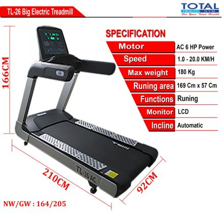 Treadmill Listrik TL-26AC TREADMILL LISTRICK - AUTO INCLINE 2 detailed_ukuran_tl_26